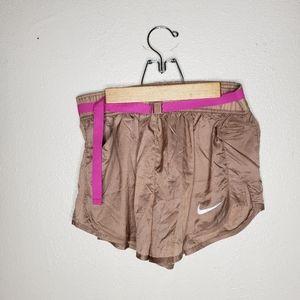 Nike Light Brown Belt Athletic Shorts